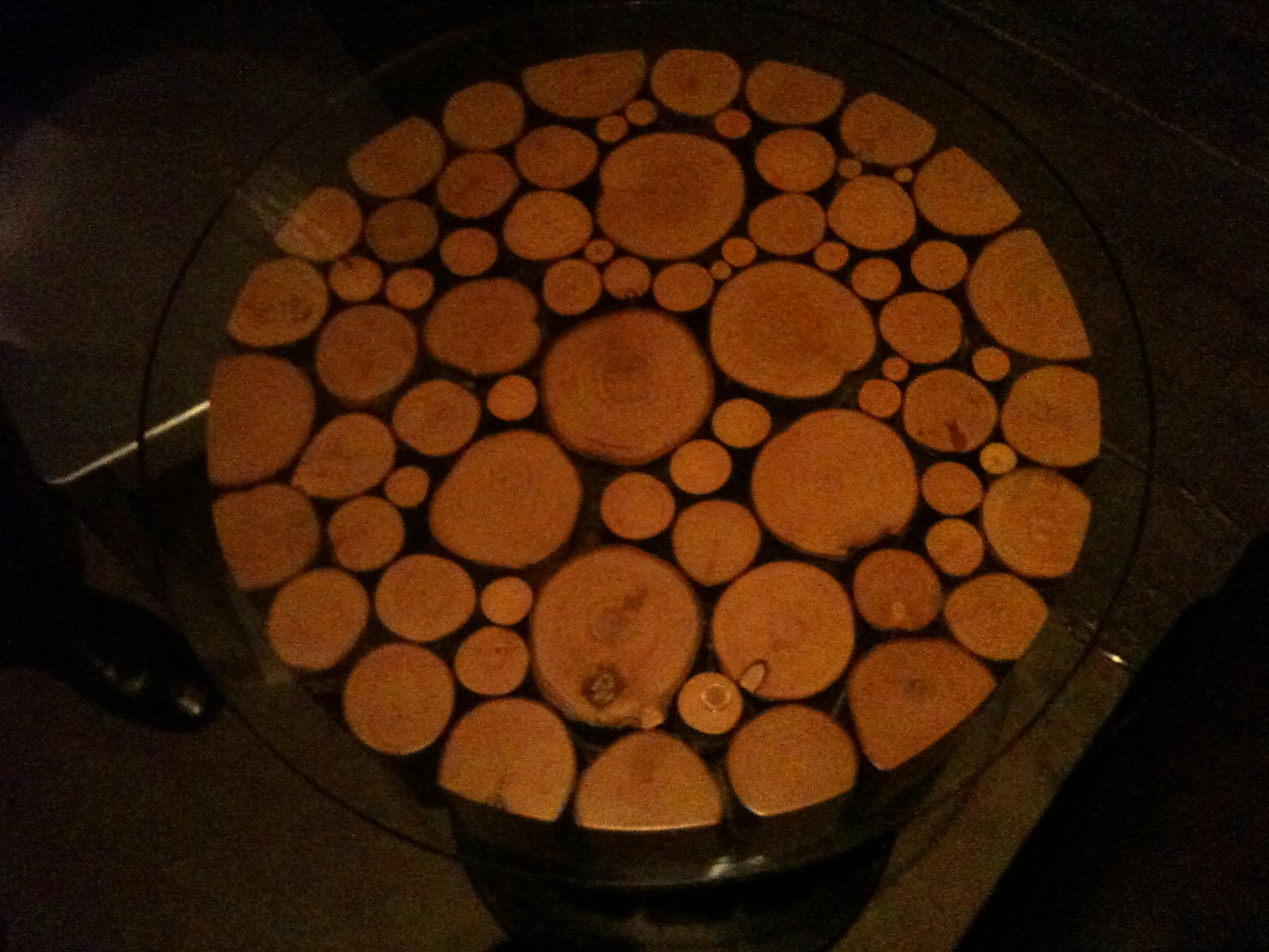 Superior The Table Tops At Salt Were Made From Cross Sections Of Tree Branches.