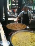 A curry seller at Borough Market: Thai, Malaysian, and Caribbean.