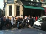 If this line at Monmouth coffee shop is any indication, the coffee craze has made its way to London.
