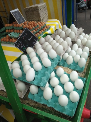 Goose eggs for sale at the Richard Lenoir market.
