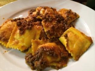 Grandma's ravioli at Antica Noe's trattoria