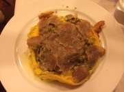 Tortino with porcini and white truffles at Buca dell'Orafo