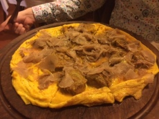 Tortino with artichokes and white truffles at Buca dell'Orafo