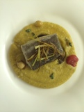 Baccalà on chickpea puree at Ganzo