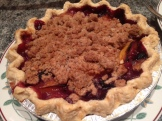 Meredith's peach blueberry pie