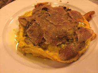 Artichoke and white truffle tortino at Buca dell'Orafo